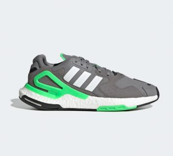 """adidas Day Jogger Boost """"Grey Lime"""": Sale Price: $67.20 (Retail $120)  – FREE SHIPPING  – use code:  – EXTRA20 –  at checkout"""