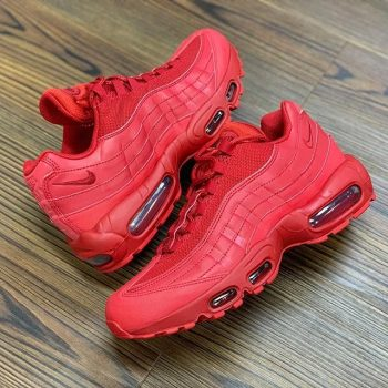 "Nike Air Max 95 ""Triple Red"" : Sale Price: $91.99 (Retail $170)  – FREE SHIPPING – use code:  – GRIDIRON –  at checkout"