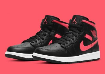 "Now Available: Air Jordan 1 Mid (W) ""Siren Red"" ("