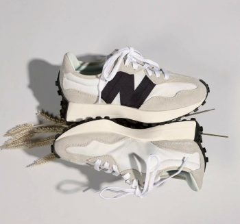 """Now Available: New Balance 327 """"White Black"""""""