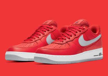 "Now Available: Nike Air Force 1 Low ""Red Grey"""