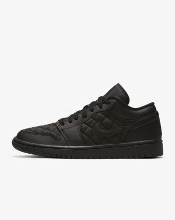 "Restock: Air Jordan 1 Quilted Low (W) ""Triple Black"""