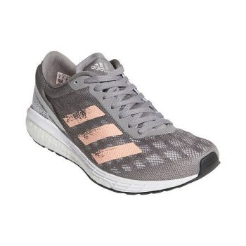 Women's adidas Adizero Boston 9 Running Shoes (Grey/Light Flash Orange/Silver Metallic) $45 + Free S/H