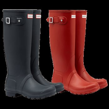 24 HOURS ONLY: Ladies Hunter Boots in Navy and Red $59