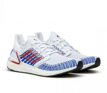 "adidas UltraBOOST 20 ""White Blue"": Sale Price: $90 (Retail $180)  – FREE SHIPPING – use code:  – 25LUCKY –  at checkout"