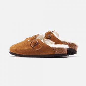 """Birkenstock Boston Shearling """"Mink"""": Sale Price: $115.50 (Retail $165)  – FREE SHIPPING – use code:  – FAST30 –  at checkout"""