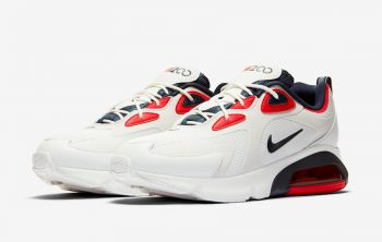 """Nike Air Max 200 """"White Red"""": Sale Price: $59.99 (Retail $120)  – free shipping on orders $99+"""