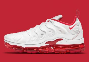 "Nike Air VaporMax Plus ""White Red"": Sale Price: $150 (Retail $200)  – FREE SHIPPING – use code:  – 25SPRING –  at checkout"