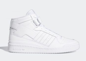 """Now Available: adidas Forum Mid """"Triple White"""""""