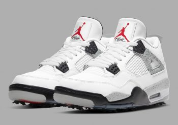 """Now Available: Air Jordan 4 Golf """"White Cement"""""""