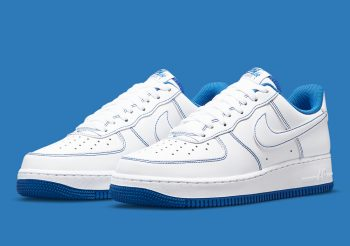 "Now Available: Nike Air Force 1 Low Stitch ""White Royal"""