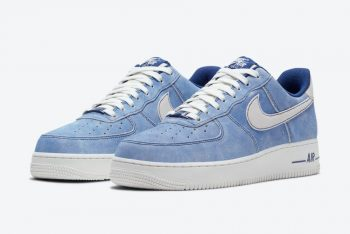 """Now Available: Nike Air Force 1 Low Suede """"Blue Sail"""""""