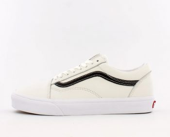 "Vans Old Skool Leather ""White Black"": Sale Price: $29.97 (Retail $60)  – free shipping on orders $89+"