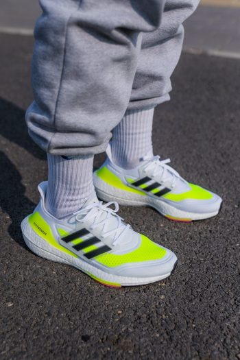 """adidas UltraBOOST 21 """"White Volt"""": Sale Price: $104 (Retail $180)  – FREE SHIPPING  – Discount applied at checkout"""