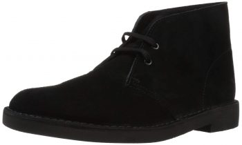 Clarks Men's Bushacre 2 Chukka Boots (black suede, limited sizes) $25 + free shipping at Amazon