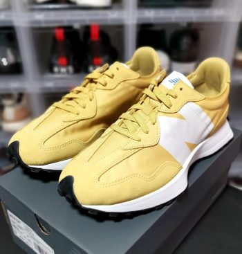 """New Balance 327 """"Mustard"""": Sale Price: $66.50 (Retail $95)  – FREE SHIPPING – use code:  – FAST30 –  at checkout"""