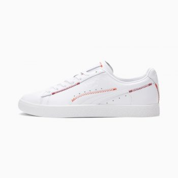 """Puma Clyde Stitch """"White"""": Sale Price: $31.99 (Retail $70)  – use code:  – REFRESH20 –  at checkout  – free shipping on orders $50+"""