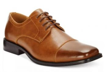 Alfani Men's Adam Cap Toe Oxfords (black or tan) $18.90+ Free Store Pickup at Macy's or FS on $25+ [Use code 'FRIEND' at checkout]