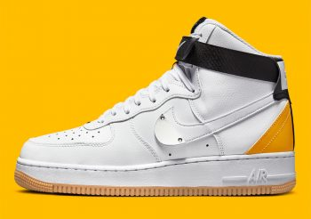 """Now Available: NBA x Nike Air Force 1 High """"University Gold"""""""