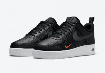 """Now Available: Nike Air Force 1 Low Premium """"Black Orange"""""""