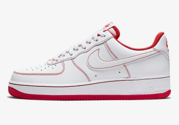 """Now Available: Nike Air Force 1 Low Stitch """"University Red"""""""