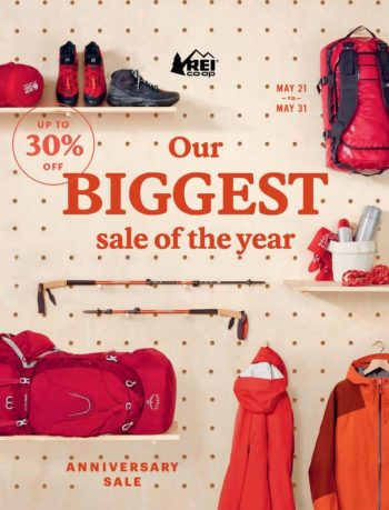 REI Anniversary Sale: Clothing, Backpacks, Shoes, Outdoor Equipment (May 21-31) [Use code 'ANNIV21' at checkout]