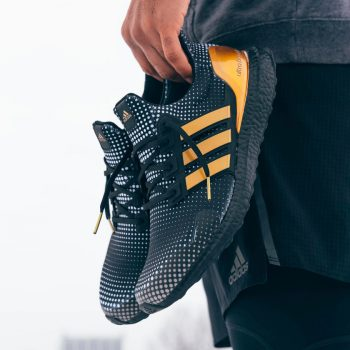 """Mahomes x adidas UltraBOOST DNA """"Black Gold"""": Sale Price: $134.99 (Retail $180)  – FREE SHIPPING"""