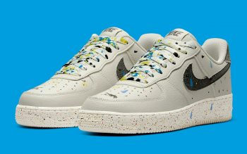"""Now Available: Nike Air Force 1 Low Splatter """"Light Bone"""""""