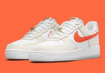 """Now Available: Nike Air Force 1 Low (W) """"White Orange"""""""