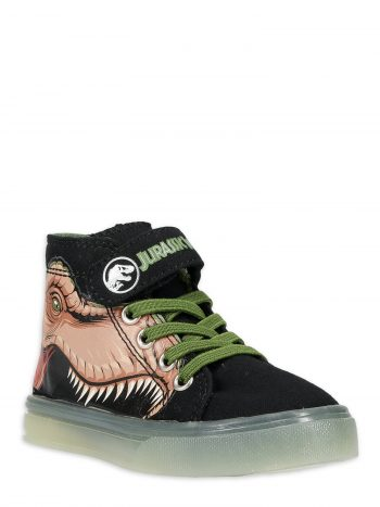 Toddler Lighted High Top Sneakers: Jurassic World $8, Spiderman $13, Jurassic World Rain Boots $10 + FS w/ Walmart+ or orders of $35+