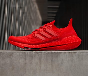 """adidas UltraBOOST 21 """"Triple Red"""": Sale Price: $88.20 (Retail $180)  – FREE SHIPPING – use code:  – JULY –  at checkout"""