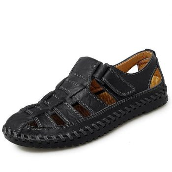 HOBIBEAR Mens Leather Sandals for $23.99 + Free Shipping