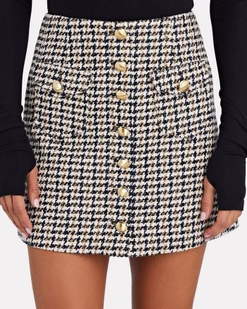 INTERMIX Extra 30% Off Select Sale Styles: GANNI Ruffled High Neck Sweater $69.30, Coco Tweed Mini Skirt $41.30 & More + FS