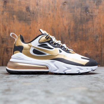 """Nike Air Max 270 React """"Metallic Gold"""" : Sale Price: $79.99 (Retail $170)  – FREE SHIPPING – Discount applied at checkout"""
