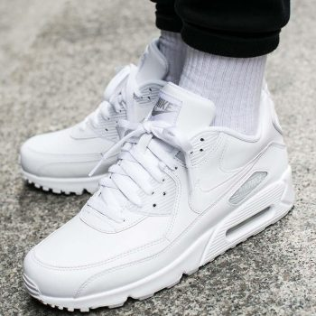 """Nike Air Max 90 Leather """"Triple White"""": Sale Price: $96 (Retail $120)  – FREE SHIPPING – use code:  – SCR20 –  at checkecout"""