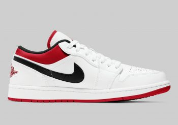 """Now Available: Air Jordan 1 Low """"White Gym Red"""""""
