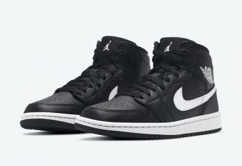 """Now Available: Air Jordan 1 Mid (W) """"Black White"""""""
