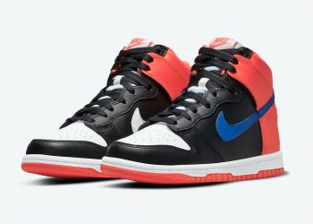 """Now Available: GS Nike Dunk High """"Black Orange"""""""