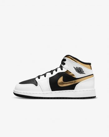 """Now Available: Kid's Air Jordan 1 Mid """"White Gold"""""""