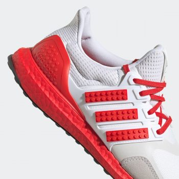 """Now Available: LEGO x adidas UltraBOOST DNA """"White Red"""""""