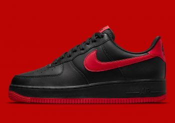 """Now Available: Nike Air Force 1 Low """"Black Red"""""""