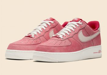 """Now Available: Nike Air Force 1 Low Suede """"Gym Red Sail"""""""