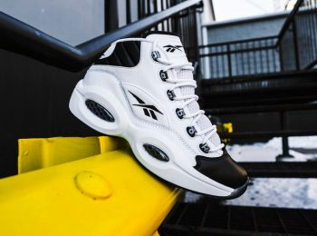 """Reebok Question Mid """"2001 All Star"""": Sale Price: $97.75 (Retail $140)  – Discount applied at checkout"""