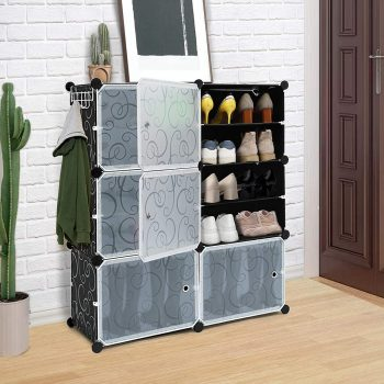 6-Tier Portable Shoe Rack Organizer for 24 pairs of shoes $37.98 + Free Shipping