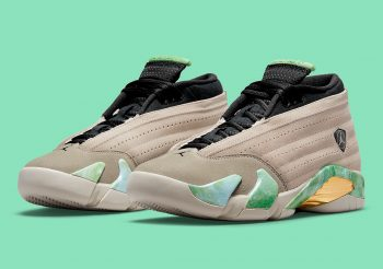 """Now Available: Aleali May x Air Jordan 14 Low """"Fortune"""""""