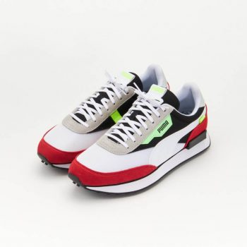 """Puma Future Rider """"White Red"""": Sale Price: $44.99 (Retail $80)  – use code:  – BTS25 –  at checkout  – free shipping on orders $50+"""