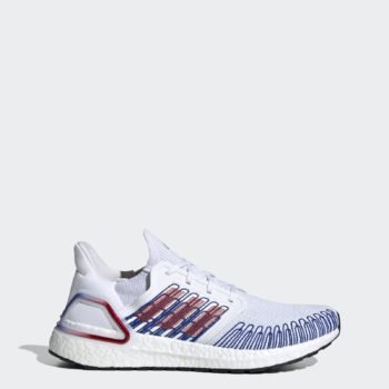 Adidas Men's Ultraboost 20 Shoes (Cloud White, Scarlet) $90 + Free Shipping (Size 11 only)