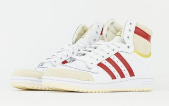 """adidas Top Ten Hi OG """"White Red"""": Sale Price: $50 (Retail $100)  – FREE SHIPPING – use code:  – ADID50 –  at checkout"""