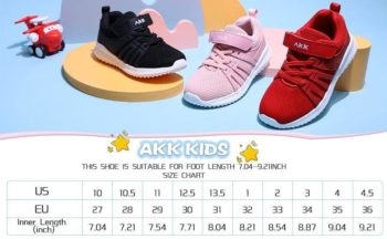 Akk Kids Tennis Breathable Lightweight Sneakers (6 Colors) $8.99 + Free shipping [Use code 'SD2031' at checkout]