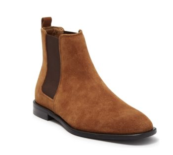 """Donald Pliner Calf Suede Chelsea Boot """"Caramel"""": Sale Price: $129.97 (Retail $395)  – FREE SHIPPING"""